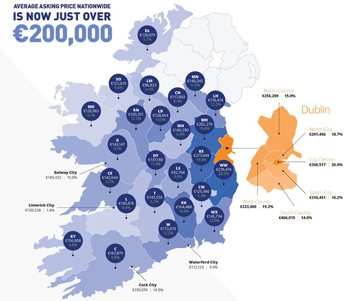 Map of House Prices in Ireland